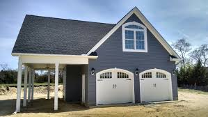 detached garage with bonus room above baytobeach exterior