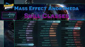 mass effect andromeda skills and abilities combat tech biotic skills
