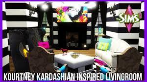 the sims 3 kourtney kardashian inspired livingroom youtube