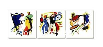 themed paintings painted 3 modern abstract fashion instrument