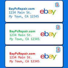 custom ebay seller return address labels stickers personalized