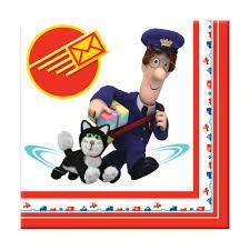 postman pat luncheon napkins party uk
