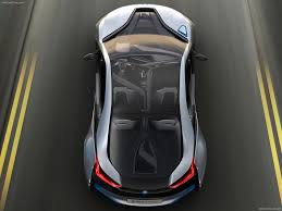 Bmw I8 Mirrorless - bmw i8 top view shows full lenght clear roof sunroof body