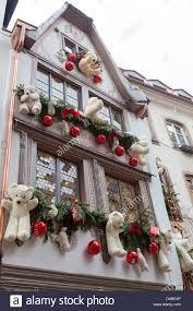 teddy decorations teddy bears as christmas decorations on the exterior of au tire