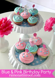 1st Birthday Party Decorations Homemade A Stylish Blue And Pink Birthday Party