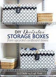 Upcycling a Cardboard Box into a Stylish DIY Storage Box – Sustain