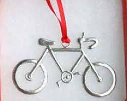 mountain bike ornament pewter suspension