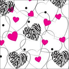 zebra tissue paper zebra hearts printed tissue paper 20 x 30 sheets