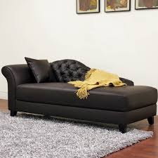 Leather Chaise Lounge Chair Leather Chaise Lounge Chair With Single Arm Tufted Design Plus