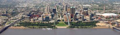 Satellite View Map Google Map Of The City Of Saint Louis Missouri Usa Nations