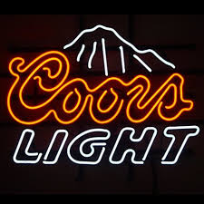 coors light sign amazon coors light neon light signs beer bar pub display neon signs neon
