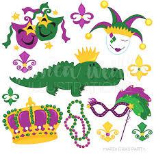 mardi gras alligator gras party digital clipart mardi gras clip