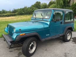jeep removable top 1992 teal blue jeep wrangler with removable top for sale