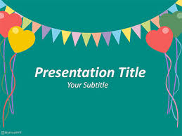free party powerpoint template animated party powerpoint templates