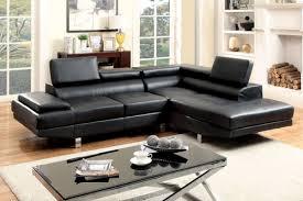Black Leather Sectional Sofa Sectional Sofa Cm6833bk Bb U0027s Furniture Store