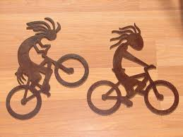 Bicycle Home Decor by Kokopelli Metal Wall Art Set Home Decor Bar Southwest