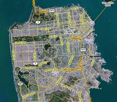 san francisco on map overview map of san francisco