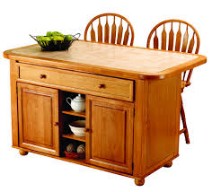 oak kitchen island with stools