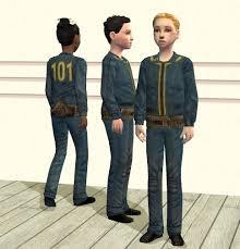 fallout vault jumpsuit mod the sims fallout vault 101 child suits