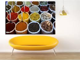 tableau cuisine pas cher tableau pour cuisine déco épices sur toile alu plexi pas cher