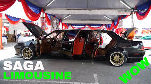 best limos in the world inside proton saga limousine car interior and exterior custom modified