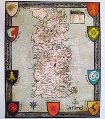 game of thrones westeros map cotton canvas map vintage map style