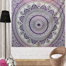 pink and purple hippie tapestries boho home decor mandala tapestry