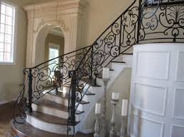 portrait of wrought iron stair railings for creating awesome