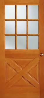3 Panel Exterior Door Exterior Solid Douglas Fir 9 Lite Crossbuck Panel Bottom Door