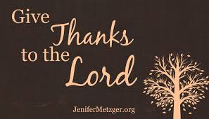 thanksgiving give thanks jenifer metzger give thanks to the lord