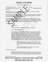 Non Disclosure Statement Template by Sle Non Disclosure Agreement Form Template Startup