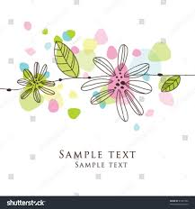 colorful greeting card flower template stock vector