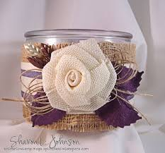 a burlap candle gift
