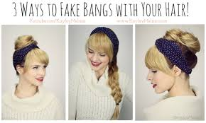 how to see yourself in a different hair color 3 ways to fake bangs with your hair youtube