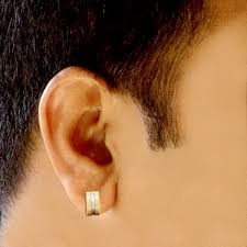 mens earring hoop gold mens earring jacknjewel