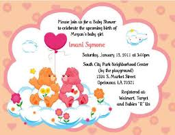 53 care bear invitations images care bears