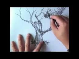 tutorial menggambar orang dengan pensil cara menggambar pohon dengan pensil youtube