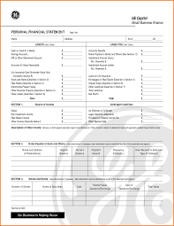 Personal Financial Statement Spreadsheet 12 Business Financial Statement Template Financial Statement Form