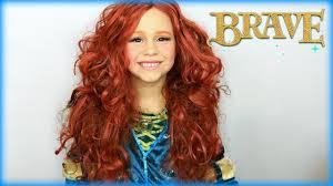 disney u0027s brave princess merida makeup costume tutorial