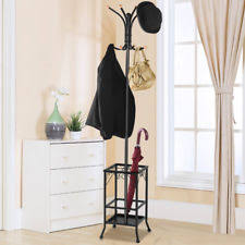 yaheetech standing coat rack stand entryway hooks storage shelves