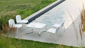 White Outdoor Furniture A Sophisticated White Outdoor Collection From Nardi Design Milk