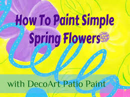 how to paint simple spring flowers youtube