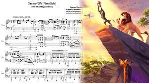 lion king circle piano solo sheet download