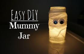easy diy halloween mummy jar creative ramblings