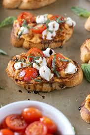 Hummus Kitchen Caprese Roasted Red Pepper Hummus Crostini A Kitchen Addiction