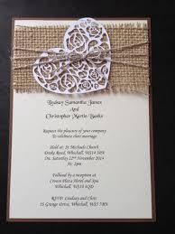 rustic vintage wedding invitations handmade rustic vintage shabby chic hessian wedding invitations