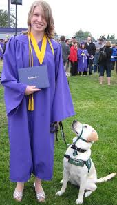 dog graduation cap and gown no bones about it guide dogs for the blind s an experience