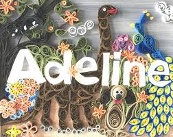 Unique Home Decor by Customized Quilled Name Art Makes Unique Home Decor
