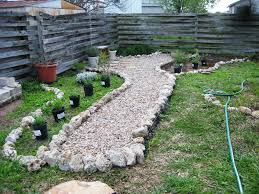 Backyard Gravel Ideas - small backyard ideas a round rock garden