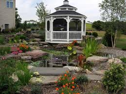 Home Design Examples Chandelier Ideas Gazebo And Landscaping Around Koi Pond Home